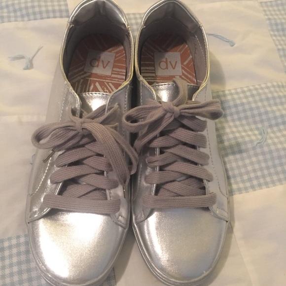 Dv Silver Sneakers Nwot Dolce Vita